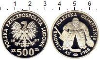 Изображение Монеты Европа Польша 500 злотых 1987 Серебро Proof-