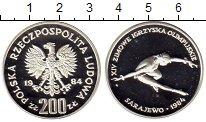 Изображение Монеты Польша 200 злотых 1984 Серебро Proof- XIV Зимние Олимпийск