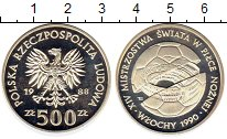 Изображение Монеты Польша 500 злотых 1988 Серебро Proof- Чемпионат мира по фу