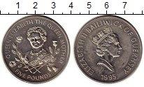 Изображение Монеты Гернси 5 фунтов 1995 Медно-никель UNC- Королева-мать