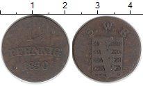 Изображение Монеты Германия Саксен-Веймар-Эйзенах 1 1/2 пфеннига 1830 Медь VF