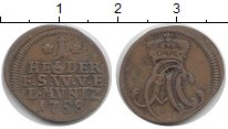 Изображение Монеты Саксен-Веймар-Эйзенах 1 геллер 1758 Медь XF