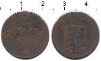 Изображение Монеты Германия Саксен-Веймар-Эйзенах 2 пфеннига 1796 Медь XF-