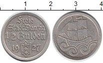 Изображение Монеты Данциг 1/2 гульдена 1927 Серебро XF