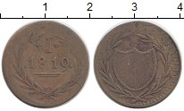 Изображение Монеты Германия Франкфурт 1 пфенниг 1819 Медь XF-