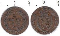 Изображение Монеты Германия Нассау 1/4 крейцера 1817 Медь XF