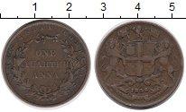 Изображение Монеты Индия 1/4 анны 1858 Медь XF