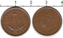 Изображение Монеты Ньюфаундленд 1 цент 1941 Бронза XF