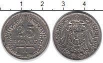 Изображение Монеты Германия 25 пфеннигов 1910 Медно-никель XF А