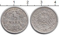 Изображение Монеты Европа Германия 1/2 марки 1918 Серебро XF