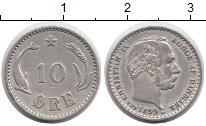 Изображение Монеты Европа Дания 10 эре 1899 Серебро XF