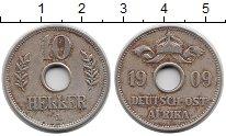Изображение Монеты Немецкая Африка 10 геллеров 1909 Медно-никель XF
