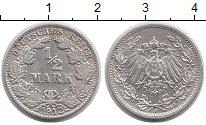 Изображение Монеты Европа Германия 1/2 марки 1912 Серебро XF