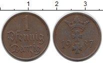 Изображение Монеты Польша Данциг 1 пфенниг 1937 Бронза XF