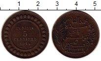 Изображение Монеты Тунис 5 сантим 1914 Бронза XF