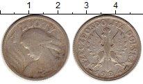 Изображение Монеты Польша 1 злотый 1924 Серебро VF