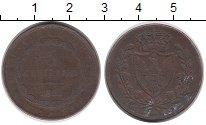 Изображение Монеты Италия Сардиния 3 сентесим 1828 Медь VF