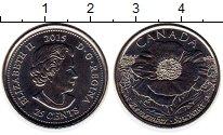 Изображение Монеты Канада 25 центов 2015 Медно-никель UNC На полях Фландрии, Е