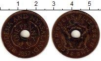 Изображение Монеты Великобритания Родезия 1 пенни 1957 Медь XF