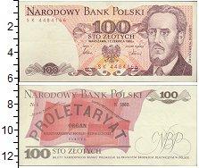 Изображение Банкноты Польша 100 злотых 1986  UNC Людвиг Варынский