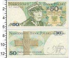 Изображение Банкноты Польша 50 злотых 1988  UNC Кароль Сверчевский