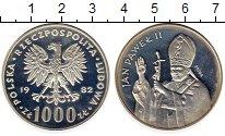 Изображение Монеты Польша 1000 злотых 1982 Серебро Proof-