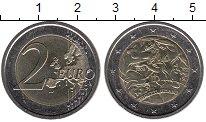 Изображение Мелочь Италия 2 евро 2008 Биметалл UNC- 60 лет Всеобщей декл