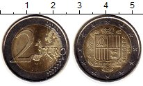 Изображение Монеты Андорра 2 евро 2014 Биметалл UNC-