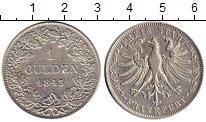 Изображение Монеты Франкфурт 1 гульден 1843 Серебро XF Вольный  город  Фран