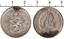 Изображение Монеты Европа Нидерланды 1 гульден 1964 Серебро XF