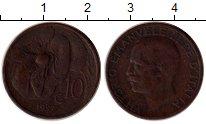 Изображение Монеты Италия 10 сентесим 1927 Медь XF