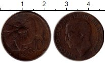 Изображение Монеты Италия 10 сентесим 1929 Медь XF Пчела,Виктор Эммануи