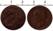 Изображение Монеты Европа Италия 10 сентесим 1934 Медь XF