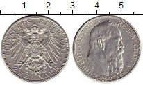 Изображение Монеты Германия Бавария 2 марки 1911 Серебро XF