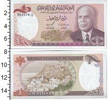 Изображение Банкноты Тунис 1 динар 1980  UNC