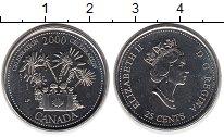 Изображение Монеты Северная Америка Канада 25 центов 2000 Медно-никель UNC
