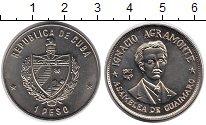Изображение Монеты Куба 1 песо 1977 Медно-никель UNC- Игнацио Аграмонте