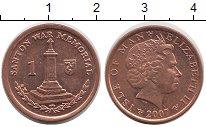 Изображение Монеты Остров Мэн 1 пенни 2007 Медь UNC