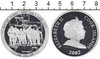 Изображение Монеты Острова Кука 1 доллар 2002 Серебро Proof Олимпийские игры,лыж