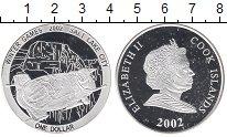 Изображение Монеты Острова Кука 1 доллар 2002 Серебро Proof Олимпийские игры,боб