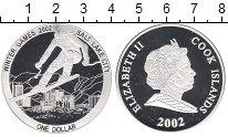 Изображение Монеты Новая Зеландия Острова Кука 1 доллар 2002 Серебро Proof