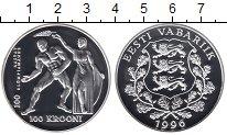Изображение Монеты Эстония 100 крон 1996 Серебро Proof Олимпийские игры