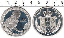 Изображение Монеты Ниуэ 50 долларов 1989 Серебро Proof-