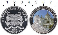 Изображение Монеты Африка Бенин 500 франков 2014 Серебро Proof