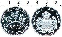 Изображение Монеты Сан-Марино 5000 лир 1998 Серебро Proof