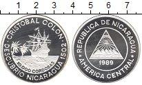 Изображение Монеты Северная Америка Никарагуа 10000 кордобас 1989 Серебро Proof-