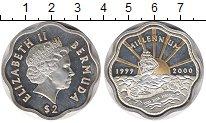 Изображение Монеты Великобритания Бермудские острова 2 доллара 1999 Серебро Proof