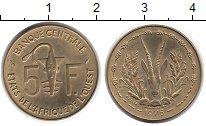 Изображение Монеты Западная Африка 5 франков 1975 Латунь UNC-