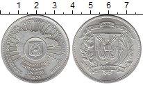 Изображение Монеты Северная Америка Доминиканская республика 1 песо 1974 Серебро UNC-