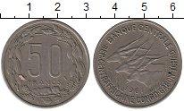 Изображение Монеты Центральная Африка 50 франков 1961 Медно-никель XF Антилопы